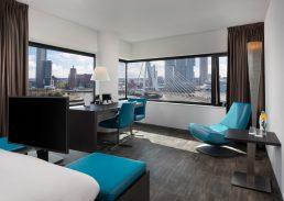 Suite uitzicht Rotterdam Skyline Erasmusbrug