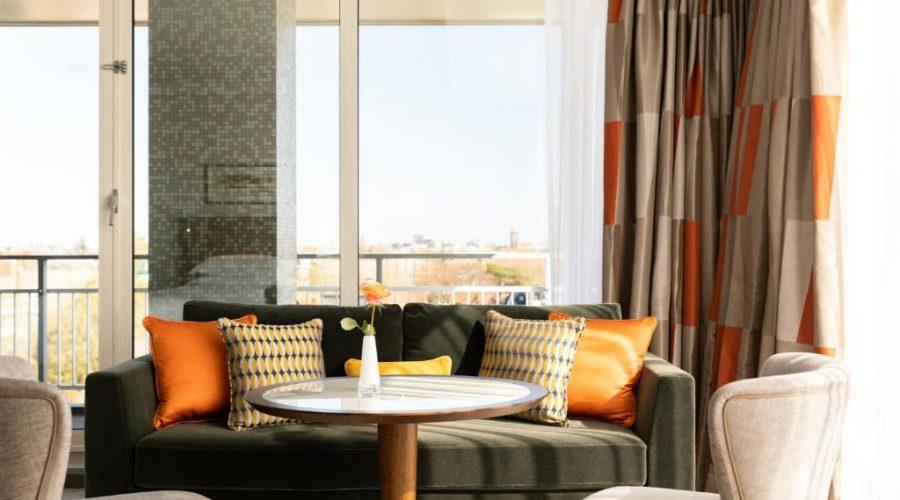 King Junior suite Hilton Amsterdam uitzicht