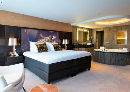 Sauna suite Hotel Schiphol A4 kingsize bed